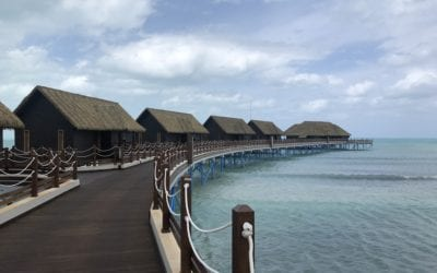Bungalows over the water