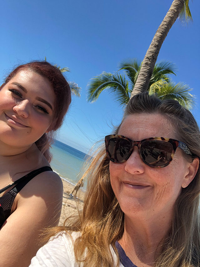 Coralie and daughter Cara on a pre-pandemic trip to Mexico