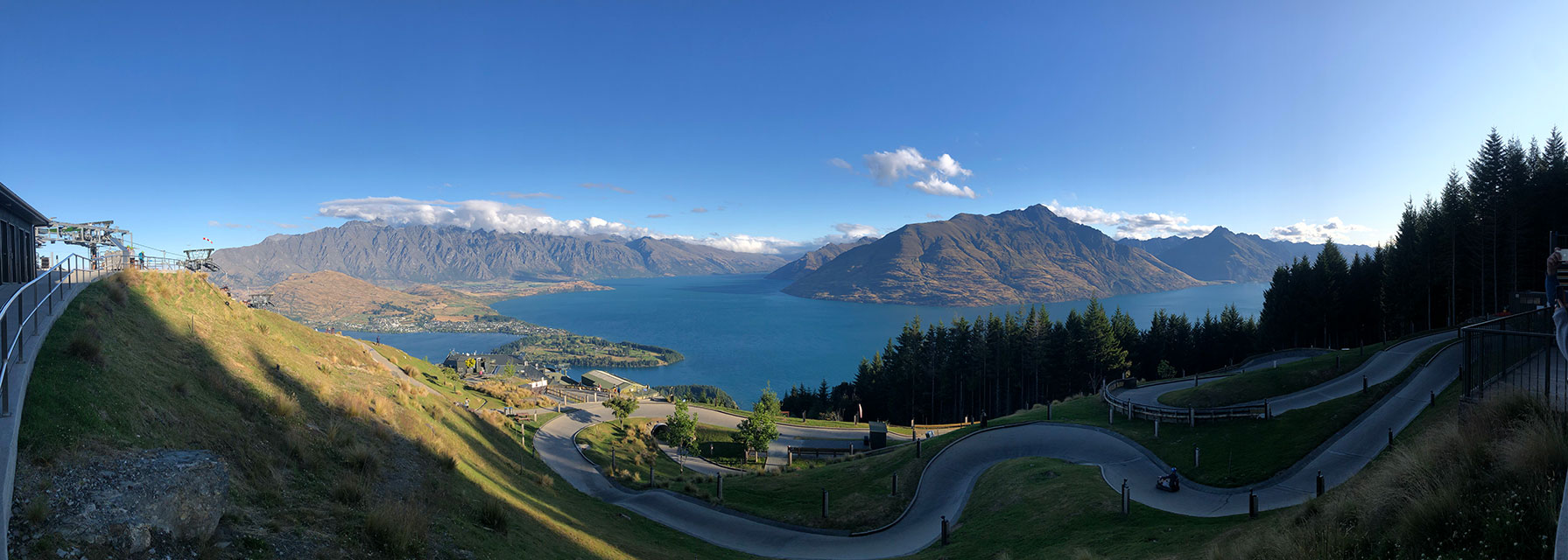 Views from the luge track atop the Queenstown Gondola