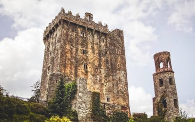 Blarney Castle and round tower, home to the Blarney Stone in Ireland
